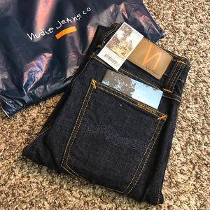 NEW Nudie Jeans High Kai Twill Navy